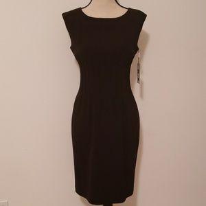 Nwt, Calvin Klein black elegant sheath dress.